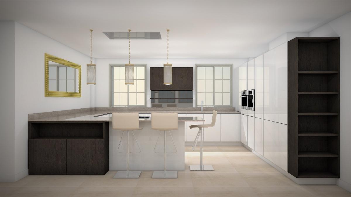 Simulación de diseño de cocinas en el departamento de cocinas de ByBalaguer