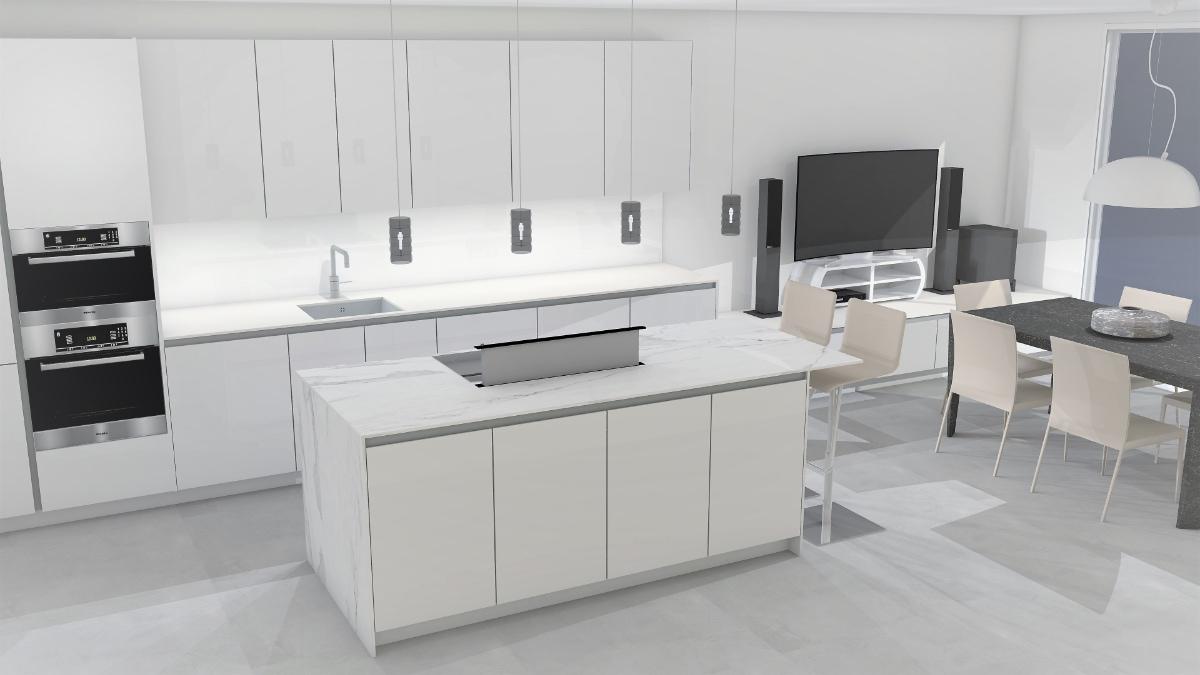 Simulación de diseño de cocinas en ByBalaguer